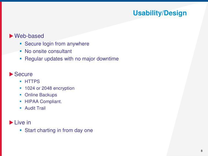 Usability/Design