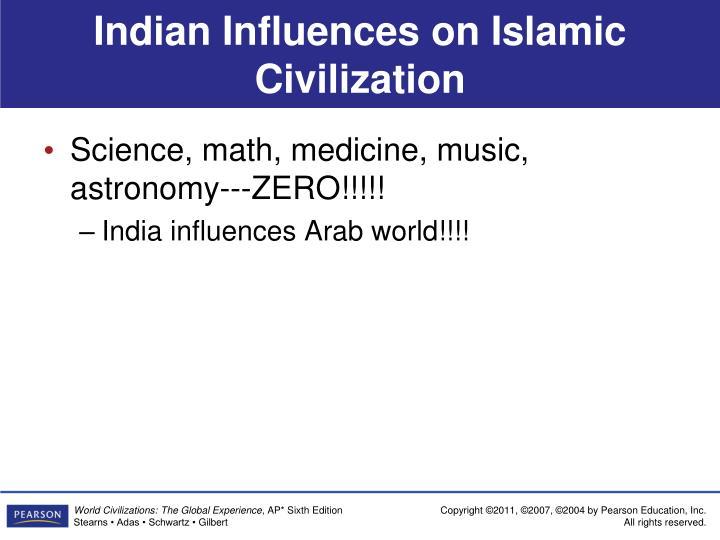 Indian Influences on Islamic Civilization