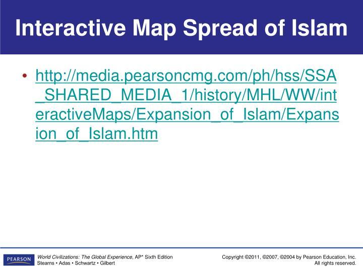 Interactive Map Spread of Islam