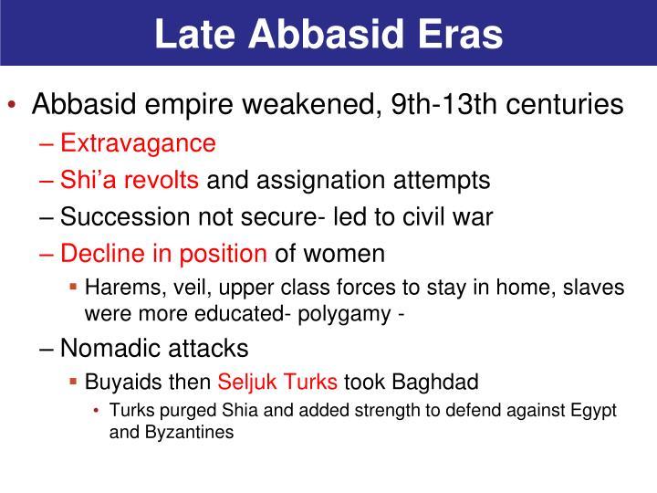 Late Abbasid Eras