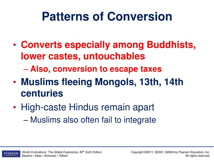 Patterns of Conversion
