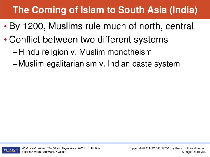 The Coming of Islam to South Asia (India)