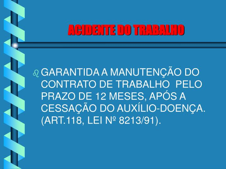 ACIDENTE DO TRABALHO