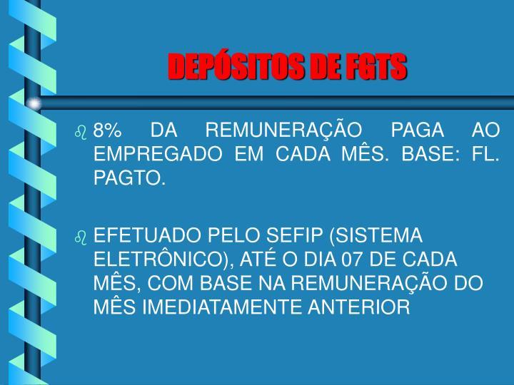 DEPÓSITOS DE FGTS