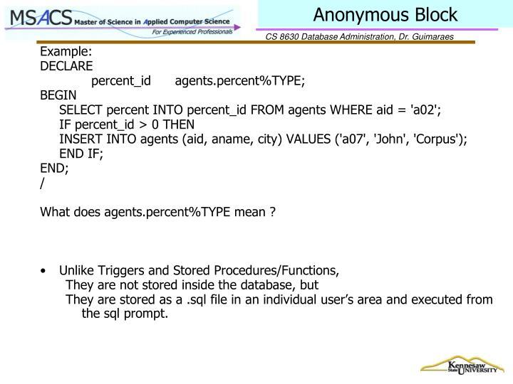 Anonymous Block