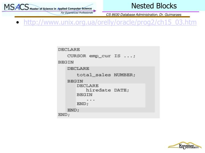 Nested Blocks