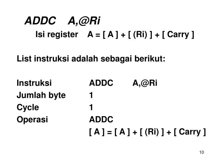 ADDCA,@Ri