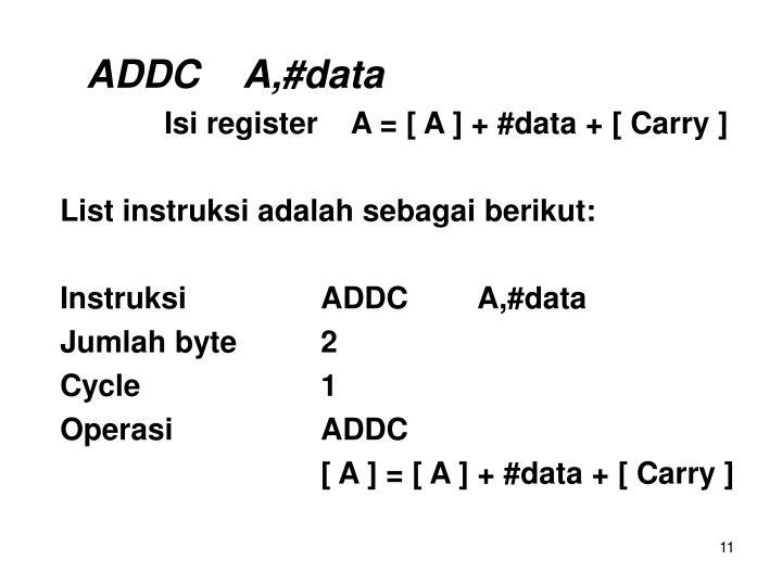 ADDCA,#data