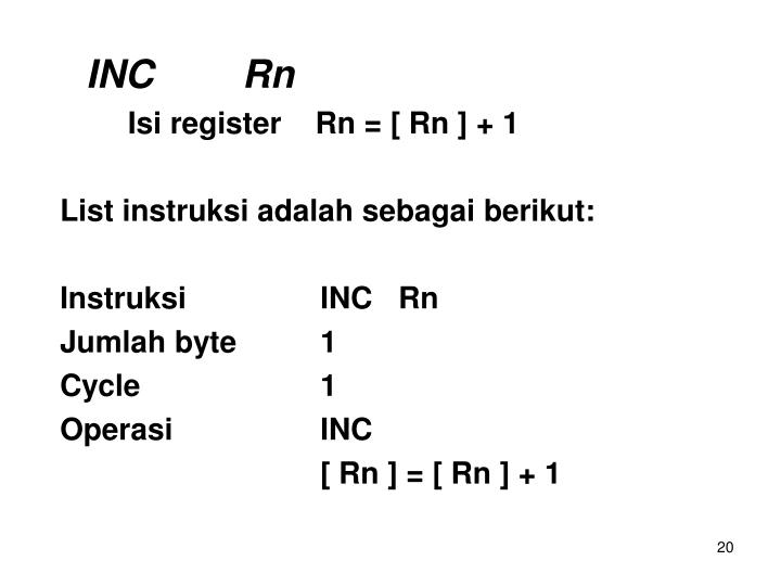 INCRn