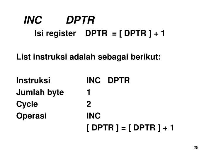 INCDPTR
