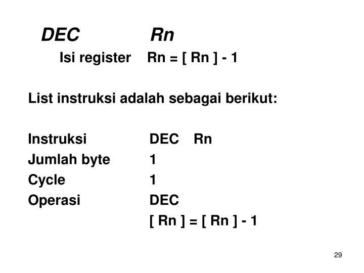 DECRn