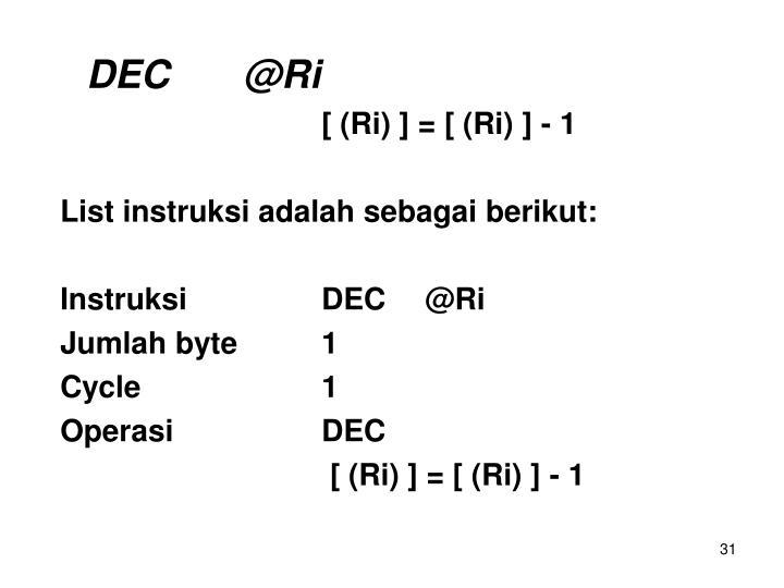 DEC@Ri