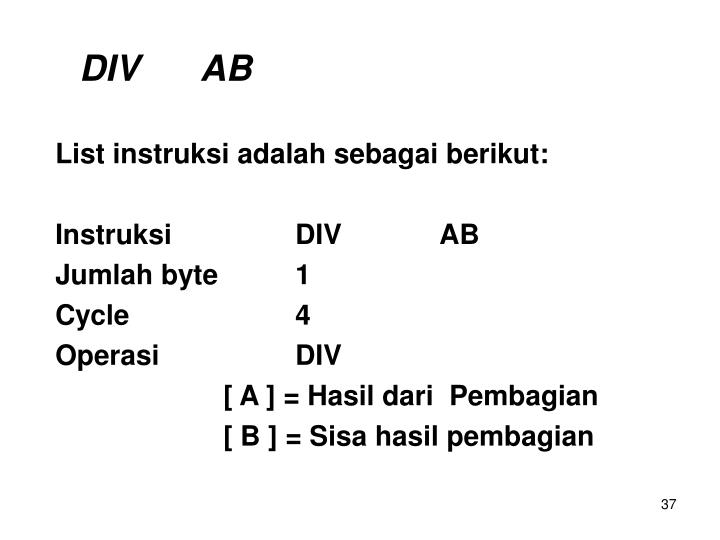 DIV     AB
