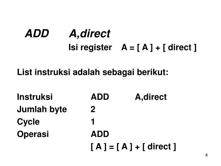 ADDA,direct
