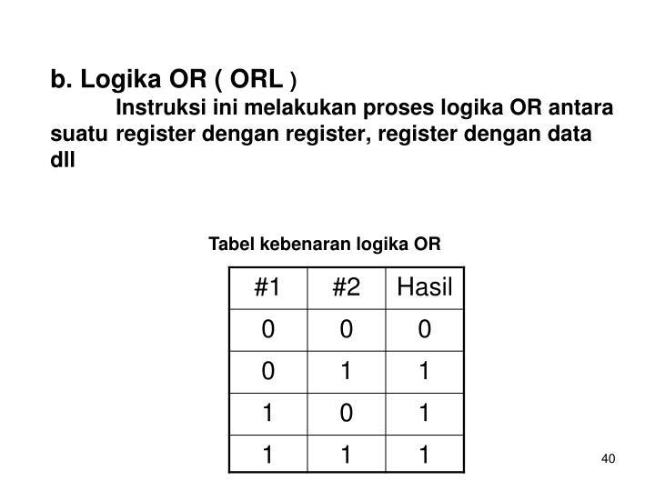 b. Logika OR ( ORL