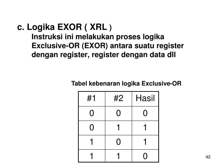 c. Logika EXOR ( XRL