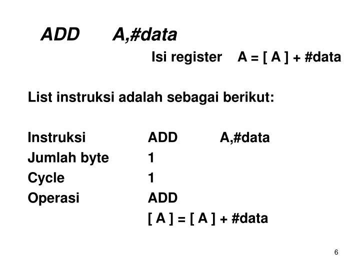 ADDA,#data