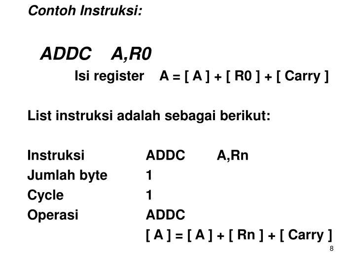 Contoh Instruksi:
