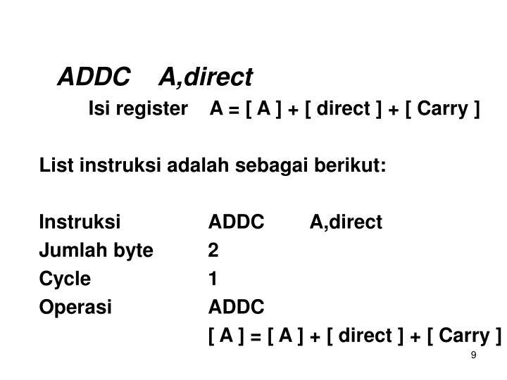 ADDCA,direct