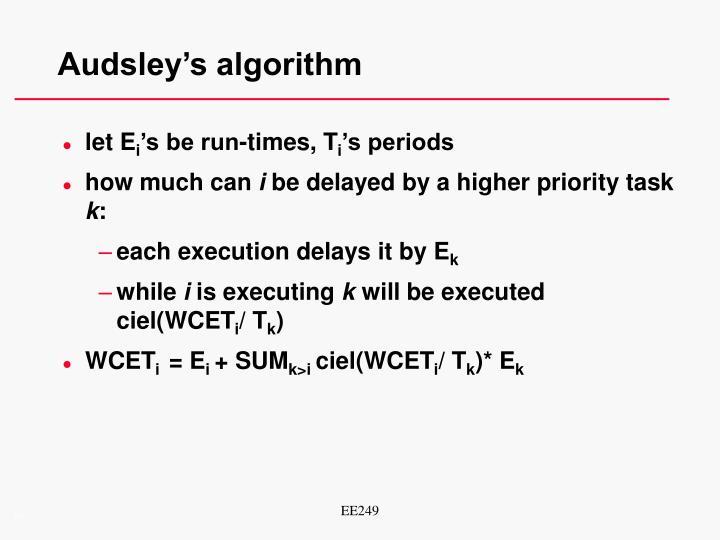 Audsley's algorithm