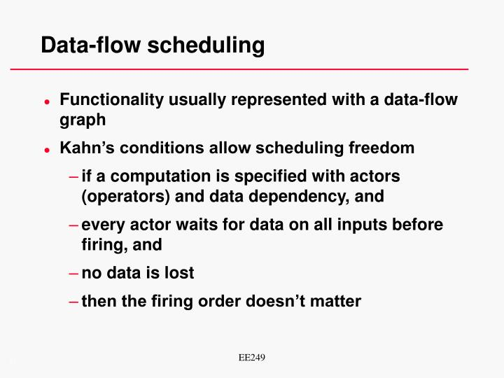 Data-flow scheduling