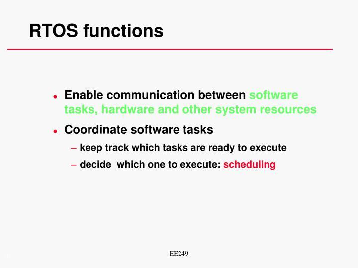 RTOS functions