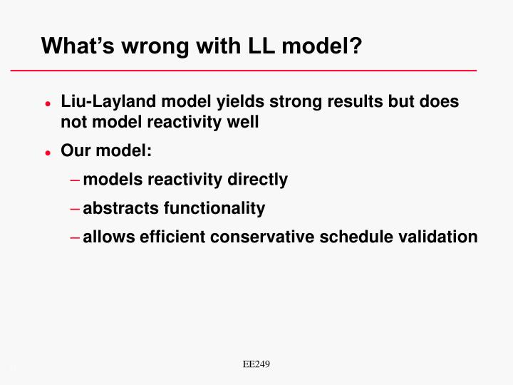 What's wrong with LL model?