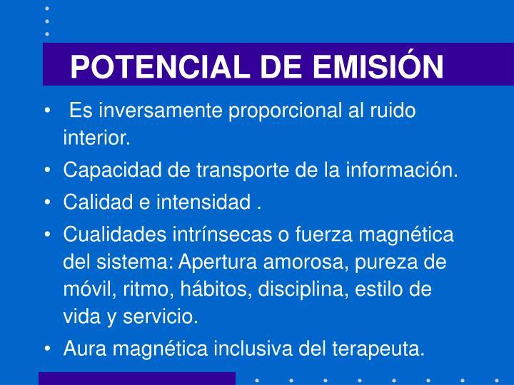 POTENCIAL DE EMISIÓN