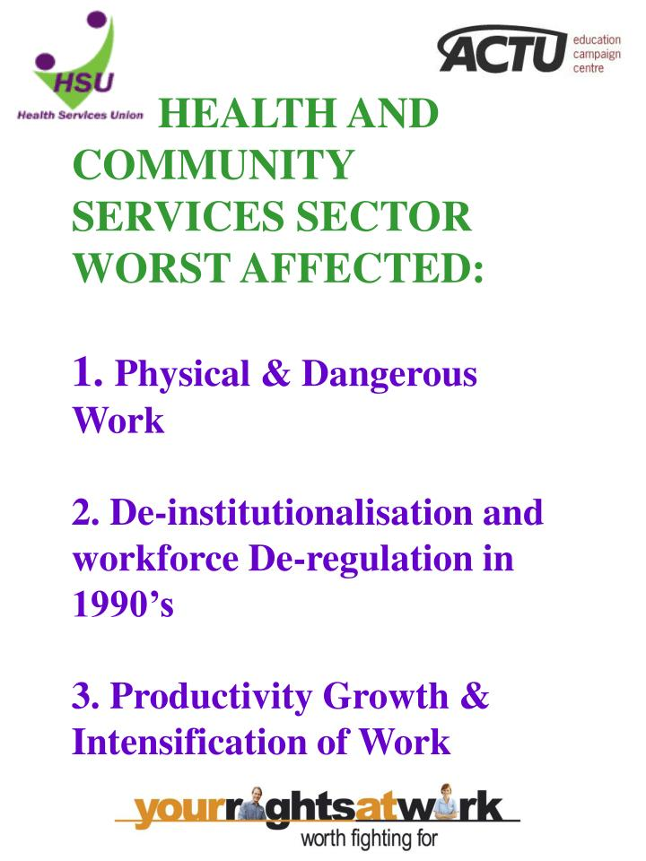 HEALTH AND COMMUNITY SERVICES SECTOR
