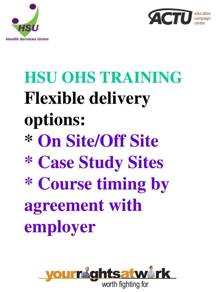 HSU OHS TRAINING