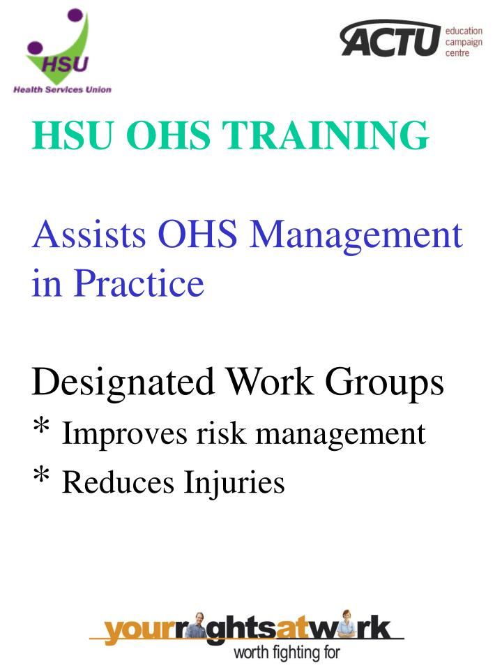 HSU OHS TRAINING