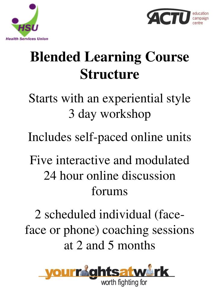 Blended Learning Course Structure