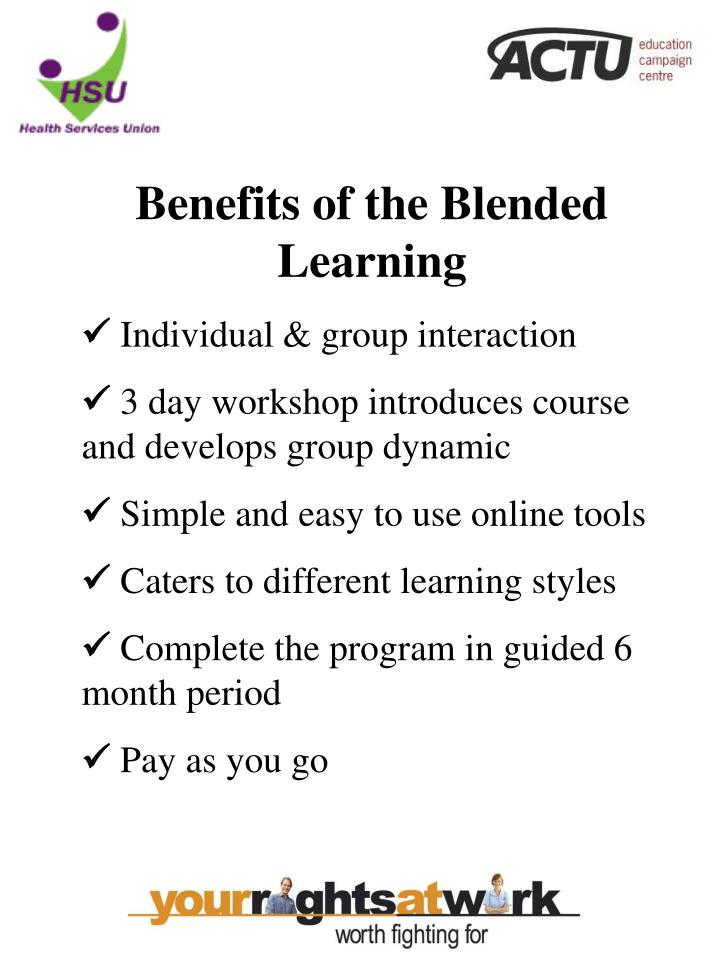 Benefits of the Blended Learning