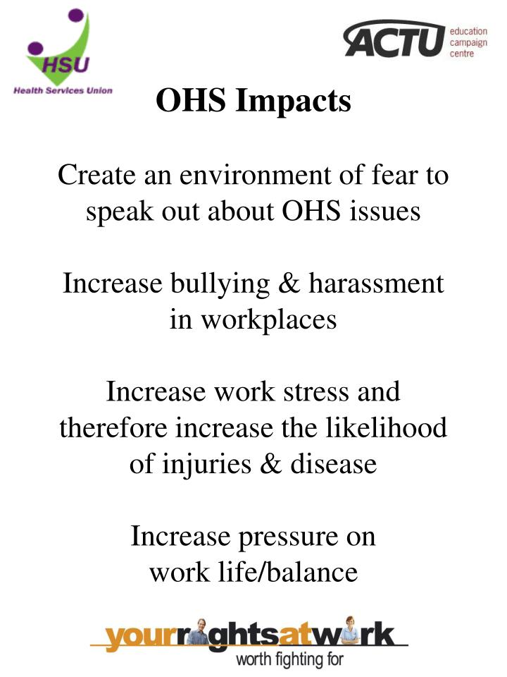 OHS Impacts