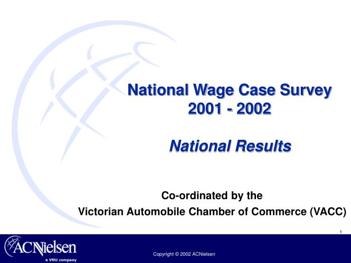 National wage case survey 2001 2002 national results