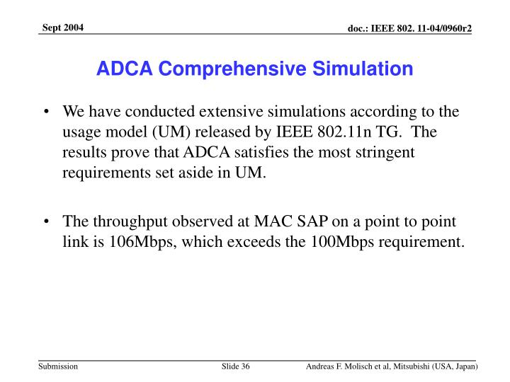 ADCA Comprehensive Simulation