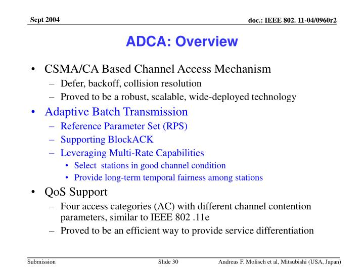 ADCA: Overview