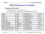 adca performance evaluation