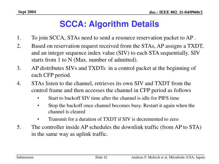 SCCA: Algorithm Details