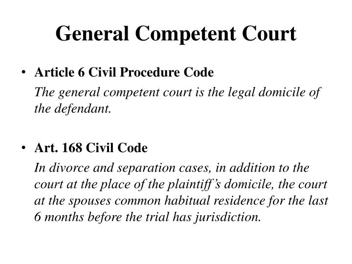 General Competent Court