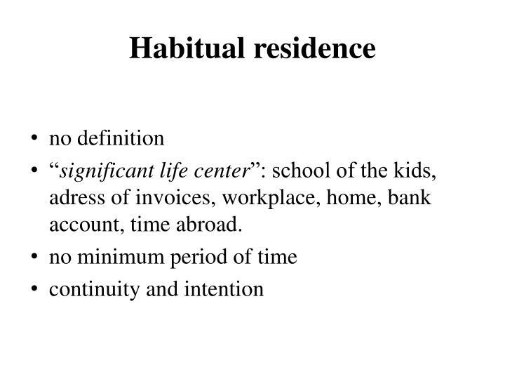 Habitual residence