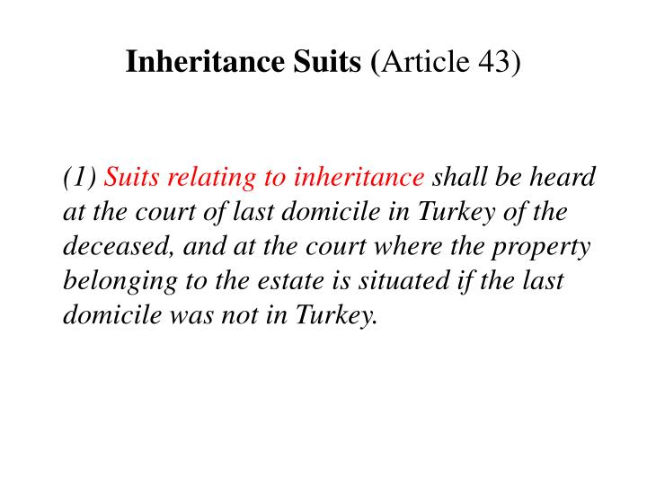 Inheritance Suits