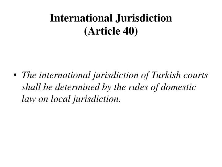 International Jurisdiction