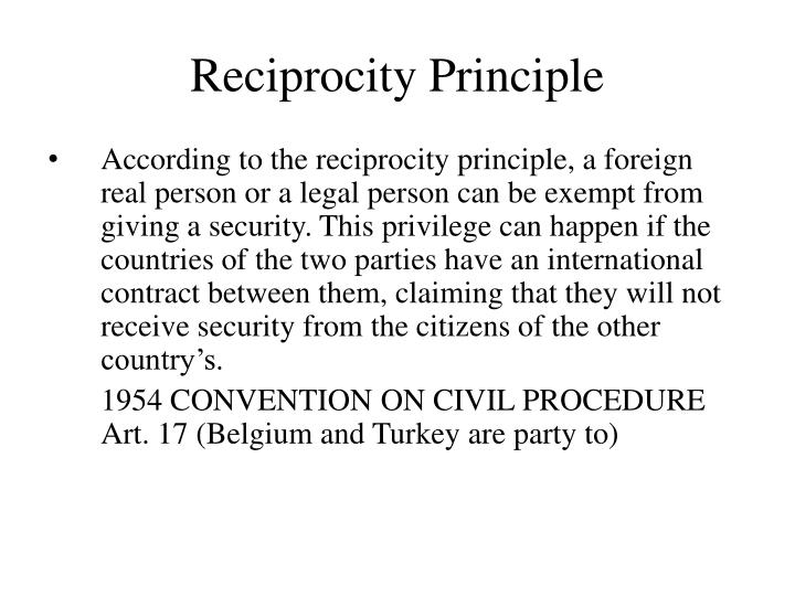 Reciprocity Principle