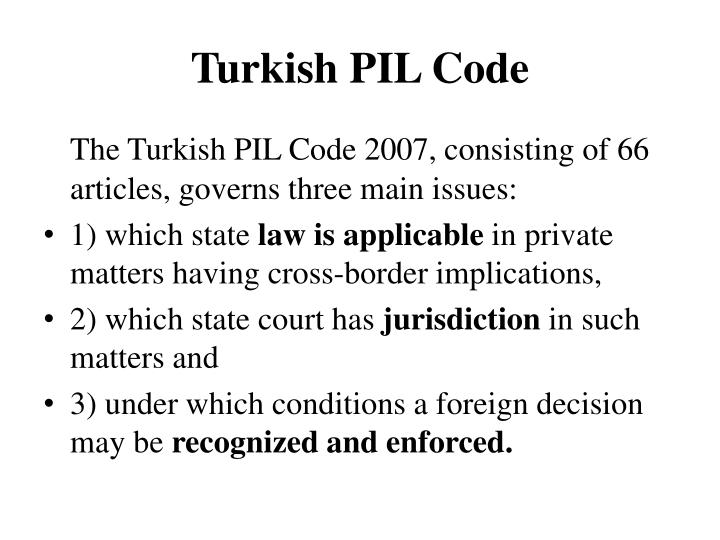 Turkish pil code