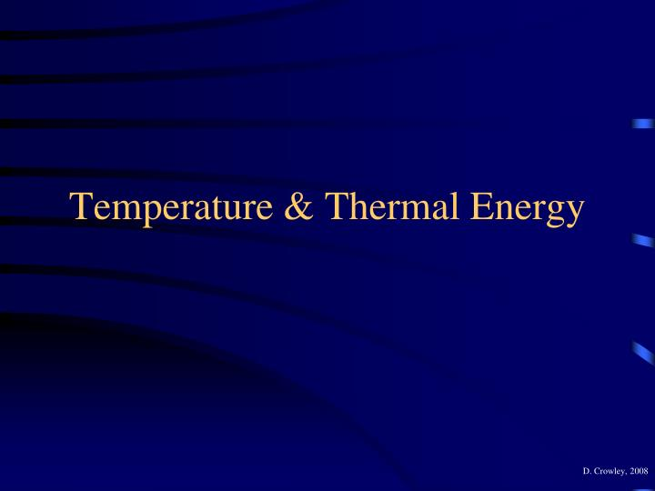 Temperature thermal energy