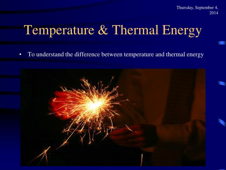 Temperature thermal energy1