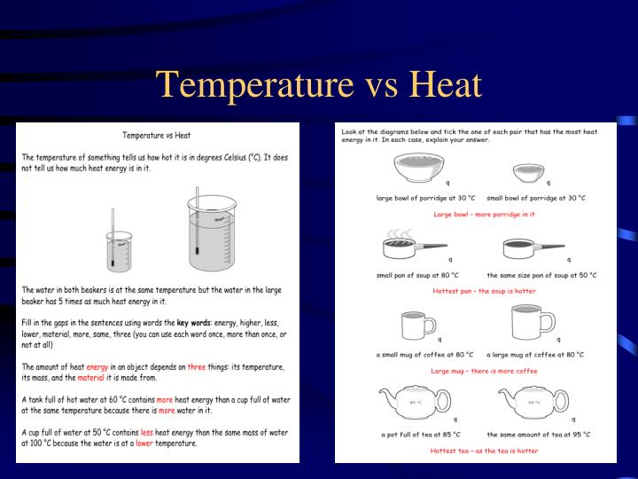Temperature vs Heat