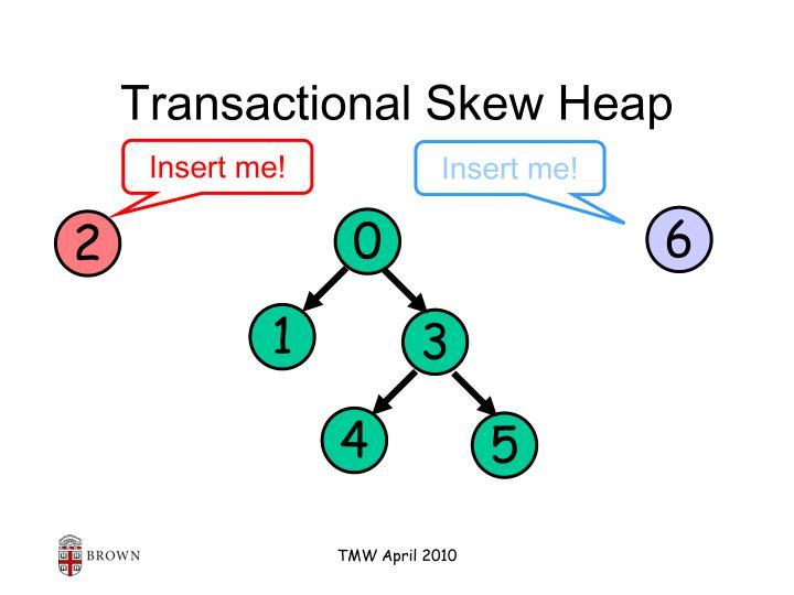 Transactional Skew Heap