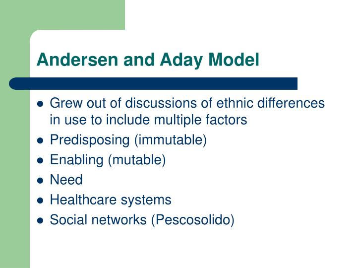 Andersen and Aday Model